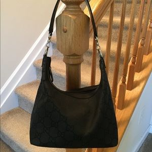 Authentic GG Jacquard Gucci Hobo Handbag